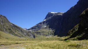 Waterfall Flats and Waterfall Face of Rabbit Pass