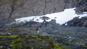 Small snowfield at Rabbit Pass