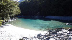 Blue water in East Matukituki River